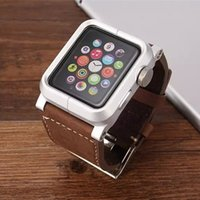 Wholesale Leather Watch Bands Chicago - Chicago Genuine Leather Apple Watch Straps iwatch Replacement Watchband Buckle for i watch Wrist Bands 38mm 42mm Classic Edition free ship