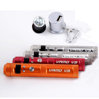 Wholesale E Cigarette V9 Batteries - VAMO V9 40W Mechanical Mod Electronic Cigarette Variable Wattage 7W-40W E Cigarettes Vamo Mod Battery Mod vs Vamo V5,V6,V7 V8 DHL free