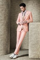 Wholesale Italy Customs - Custom handsome man's businesS suit men's suit Italy High-end fabrics groom suits wedding party clothes (jacket+pants