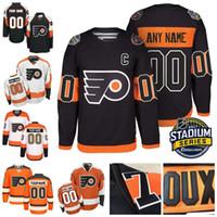 Wholesale Philadelphia Home Jersey - Custom Philadelphia Flyers Customized White Black Third Orange Vintage Personalized Home Away Flyers Winter Classic Hockey Jerseys S-4XL