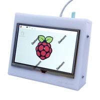 Wholesale Raspberry Pi Acrylic - Wholesale-Acrylic Case + 5 inch HDMI TFT LCD Touch Screen Shield (800 x 480) for Raspberry PI 2   B+   A+   B