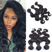 cheveux birmans achat en gros de-Burmese Bundles Body Wave Hair Tisse 100% Extensions de Cheveux Humains Grade 10A Haute Qualité LaurieJ Cheveux