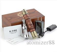Wholesale Ego Stater Kits Electronic Cigarette - Electronic Cigarettes E Fire Stater Kit Wooden Variable Voltage Batteries Glass Protank2 Atomizer X. Fire EGO Battery E Cig with Gift Box