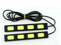 Wholesale Daytime Car 4w - 10PCS Running Light day time running lamp fog driving daylight auto day ligh 2pcs pair 4W cob drl car led Daytime