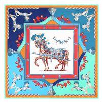 узорчатые бесконечные шарфы оптовых-Топ Qualtiy роскошные 100% шелковый шарф лошадь набивным рисунком шарф женщины Марка шарфы женщины пашмины Бесконечности шарф женщины платки A-58