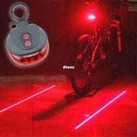 Wholesale Flashing Lights Warning - New Arrive (5LED+2Laser) 7 flash mode Cycling Safety Bicycle Rear Lamp waterproof Bike Laser Tail Light Warning Lamp Flashing