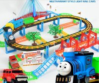 Wholesale Thomas Train Plastic Track Sets - Thomas small train head suit electric multi-storey track car children toy boy 3-4-5-6 years old