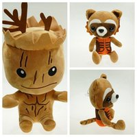 Wholesale galaxy girl - New Guardians of the Galaxy Plush Stuff Toy Plush Doll Tree people groot rocket raccoon 20cm Stuffed Toys For Children Kid Girl Christmas