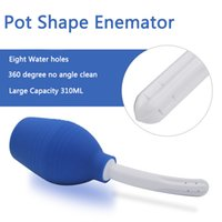 Wholesale Sex Pot - Large Capacity 310ML Medical Silicone Enemator Pot Shape Vaginal Anal Cleaner Sex Toys Douche Anal Shower Tools