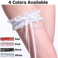 ee075f69c W1031 Branco preto vermelho rosa barato sexy laço casamento nupcial no anel  de perna Garters Belt set leggings com fitas rhinestone para mulheres