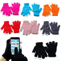 Wholesale Winter Glove Cheapest - Wholesale-Cheapest Unisex Magic Touch Screen Gloves Texting Smartphone iphone Stretch KnitWarm Windproof Winter Mittens donne Wholesale