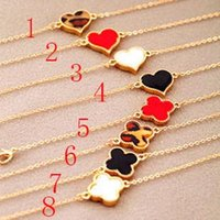 Wholesale Multi Bracelet Clover - 151 multi-color lucky clover heart-shaped charm bracelets sexy fashion lovely women lady girl jewelry