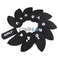 Cabezas De Hierro Baratos-11 Unids / set Golf Iron Club Set Covers Case Putter Head Bolsillos de Neopreno Deporte HeadCovers Protect Set