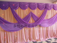 Wholesale Curtain System - A set of wedding Drape & pipe system wedding curtain valance stand with telescopic rods wedding backdrop with swag backdrop frame