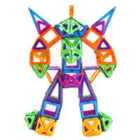 conjunto de bloques de imán al por mayor-36 Unids / set Bloques Similares Bloques de Construcción Magnéticos Puros Triángulo Cuadrado Rombo Formas y Ruedas Imán Juguetes Niños