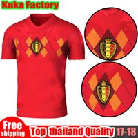 Wholesale Thailand Quality Soccer Jerseys Xxl - Belgium 2018 World Cup Home red top Thailand Quality LUKAKU FELLAINI E.HAZARD KOMPANY DE BRUYNE Soccer Jersey 18 19 Belgium football shirt