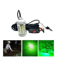 Wholesale 12V LEDs Green Blue White Underwater Fishing Light Lamp W Fishing Boat Light IP68 Waterproof LED Night Fish Finder Fishing Lure Lights