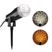 Wholesale Led Fire Strobe Lights - Ultra Bright Fire&Ice Lightshow Multi-Function LED Kaleidoscope Christmas Halloween Spotlight Projector LED Stage light for Home Patio Yard