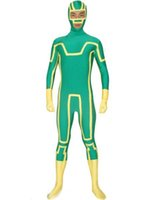 Wholesale female cosplay characters for sale - Kick Ass Zentai Suit Green Holloween Cosplay Costumes Fictional Characters Superhero Cosplay Costumes Elastic Lycar Fabric CSC95