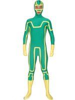 personagens trajes trajes venda por atacado-Kick Ass Zentai Terno Verde Holloween Trajes Cosplay Personagens Fictícios Superhero Trajes Cosplay Elastic Tecido Lycar CSC95