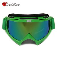 Gros-HEROBIKER Motocross Off-Road Dirt Bike Downhill antipoussière Racing Lunettes Snowboard Ski Lunettes Mototourisme Lunettes