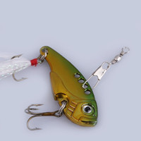 Wholesale Crank Baits Sales - Hot Sale Green Yellow Metal Spoon Fishing Lure Crankbait Bass Crank Bait Treble Hook ASAF Free Shipping