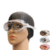 büyük kutu gözlükleri toptan satış-Su geçirmez Anti-sis Yüzme Gözlüğü Dalgıç Ayna Büyük Kutu Büyük Yüz Maskesi Dalgıç Ayna Kedi Gözü