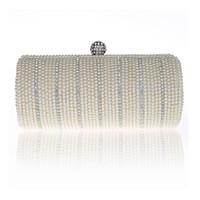 Wholesale Wholesale Lock Suppliers - Fashion Women Lady Bamboo Shape Bag Pearl Evening Clutch Bag Purse Handbag Shoulder bag Wedding Bridal Accessories Supplier