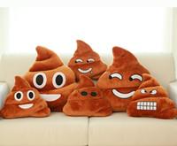 poop emoji kissen großhandel-4 stil Dekorative Kissen Emoji Kissen Geschenk Cute Shits Poop Gefüllte Spielzeug Puppe Weihnachtsgeschenk Lustige Plüsch Kissen Kissen