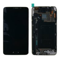 Wholesale-1pc / lot LCD-Display Touch-Screen-Panel-Digitizer mit Rahmen Assembly für Samsung Galaxy Note 3 Neo N7505 Freies Verschiffen-Schwarz