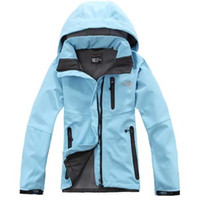 Wholesale Wholesale Jackets Soft Shell - North Sports Outdoor jacket Women's Wool Soft Shell Waterproof breathable Sports jacket Long sleeve Coat S M L XL XXL 7 Color Best