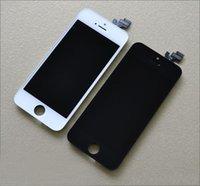 5s de pantalla original al por mayor-Para el iPhone 5 5s 5c 5G Pantalla LCD Asamblea con vidrio digitalizador original Sin píxeles muertos Envío gratis por DHL