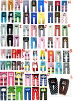 Wholesale Girls Tights Group - 36 Groups New Baby toddler boys girls tight pants Socking Leggings Tights pants embroidered knitted pant Cropped Trousers