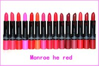 Wholesale Marilyn Lipstick - New Released Makeup Marilyn Monroe 2 in 1 lustre lipstick kissable lip colour 12pcs Free shipping 24pcs