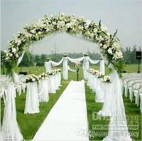 medidor de organza de la boda al por mayor-La nueva silla blanca del hilado del Organza cubre el marco para los accesorios de la decoración de las fuentes de los telones del telclado numérico de la boda El envío libre de los rodillos de 50 metros