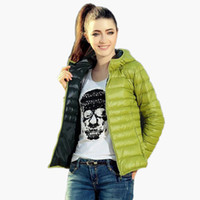 Wholesale Ladies Hooded Down Coats - New 2015 Fashion Ladies Down Short Design Coat Winter Cotton-padded Jacket Women Slim Solid Zipper Outerwear DF-081