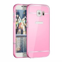 Wholesale Thin Aluminum Galaxy - S5Q Ultra-thin Aluminum Cases Metal Frame Back Covers For Samsung Galaxy S6 EDGE AAAENS