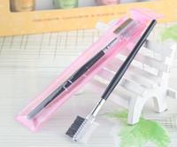 Wholesale Nylon Combs - Promotion Eyelash As Sweet Gift Wholesale 20pcs Lot Makeup Eyelash Comb Brush For Eyelash Extension Brow Brush Lash Comb
