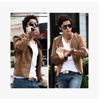 Wholesale Mens Cowl - Tops 2014 new hot mens jackets cotton outwear men's coats casual fit style designer fashion jacket