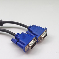 svga uzatma kablosu toptan satış-2 M 6Ft SVGA VGA Monitör M / M Erkek Erkek Uzatma Kablosu ücretsiz Gemi