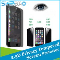 Wholesale Privacy Screen Matte - For iphone 5 6 6s Plus Privacy Glass Screen Protector 2.5D Tempered Glass Anti Spy 30 degree private Film Guard Shield