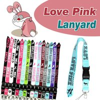 Wholesale Iphone Camera Straps - LOVE PINK Lanyard Necklace Cell Phone Straps Chain String With Clip E-Cigarette Camera ID Card Rope Lanyards For iPhone Samsung SmartPhones