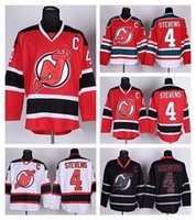 Wholesale Red Logs - 2016 New, 4 Scott Stevens New Jersey Devils Ice Hockey Jerseys Stevens Jersey Team Color Red White Black Ice Embroidery And Sewing Log