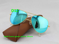 Wholesale Sun Protection Film - 2015 NEW fashion UV Protection Fashion sunglasses Color film Lens men's polarized Mirror sunglasses women's Color film sun glasses