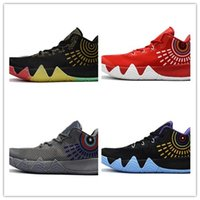 Wholesale Red Wolf Fishing - Wholesale New Fashion Retro Owen 4 Basketball Shoes For Men High Quality Rainbow Black Wolf Grey Red Outdoor Sports shoes with box