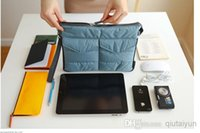 Wholesale Japan Gadget - 2014 IPad Bag in Bag Organizer Inner Bags Binder Organizer Insert Travel tablet pouch Multifunction Purse Gadget Pocket 100pcs WY345
