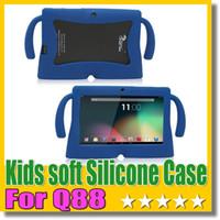 q88 tablette gummiabdeckung großhandel-Q88 weichen Silikon Fall Kinder große Ohr Gummi Gel Abdeckung für Q88 A33 A23 Tablet PC