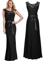 Wholesale Elegant Ballgown Dress - Free shipping Women's Ballgown Wedding Party Formal Lace Maxi Long Bodycon Cutout Dresses Elegant fashion 3192