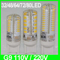 Wholesale Led Spotlight G4 - silicon G9 led AC 110V 220V SMD2835 3W 4W 5W LED Lamp Warm Cool White Spotlight Bulb