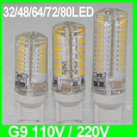 emc ac führte großhandel-Silikon G9 führte Lampe der Wechselstrom-110V 220V SMD2835 3W 4W 5W LED warme kühle weiße Scheinwerferbirne